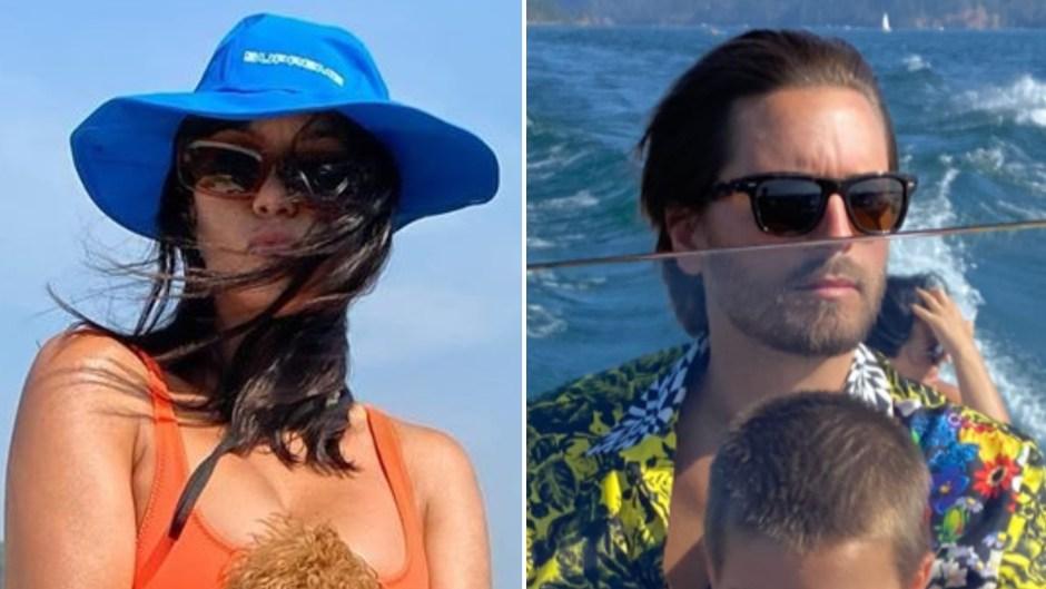Kourtney Kardashian and Scott Disick Go Boating With Reign