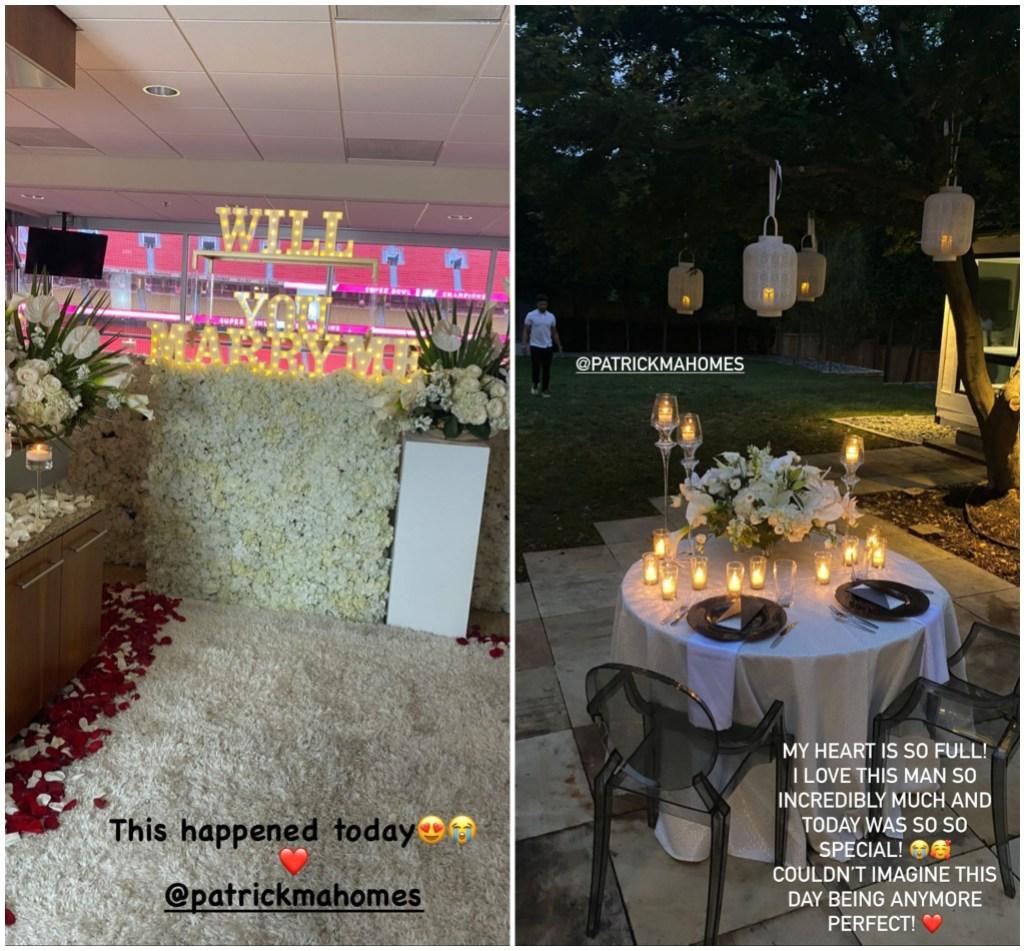 Patrick Mahomes and Brittany Matthews Engagement