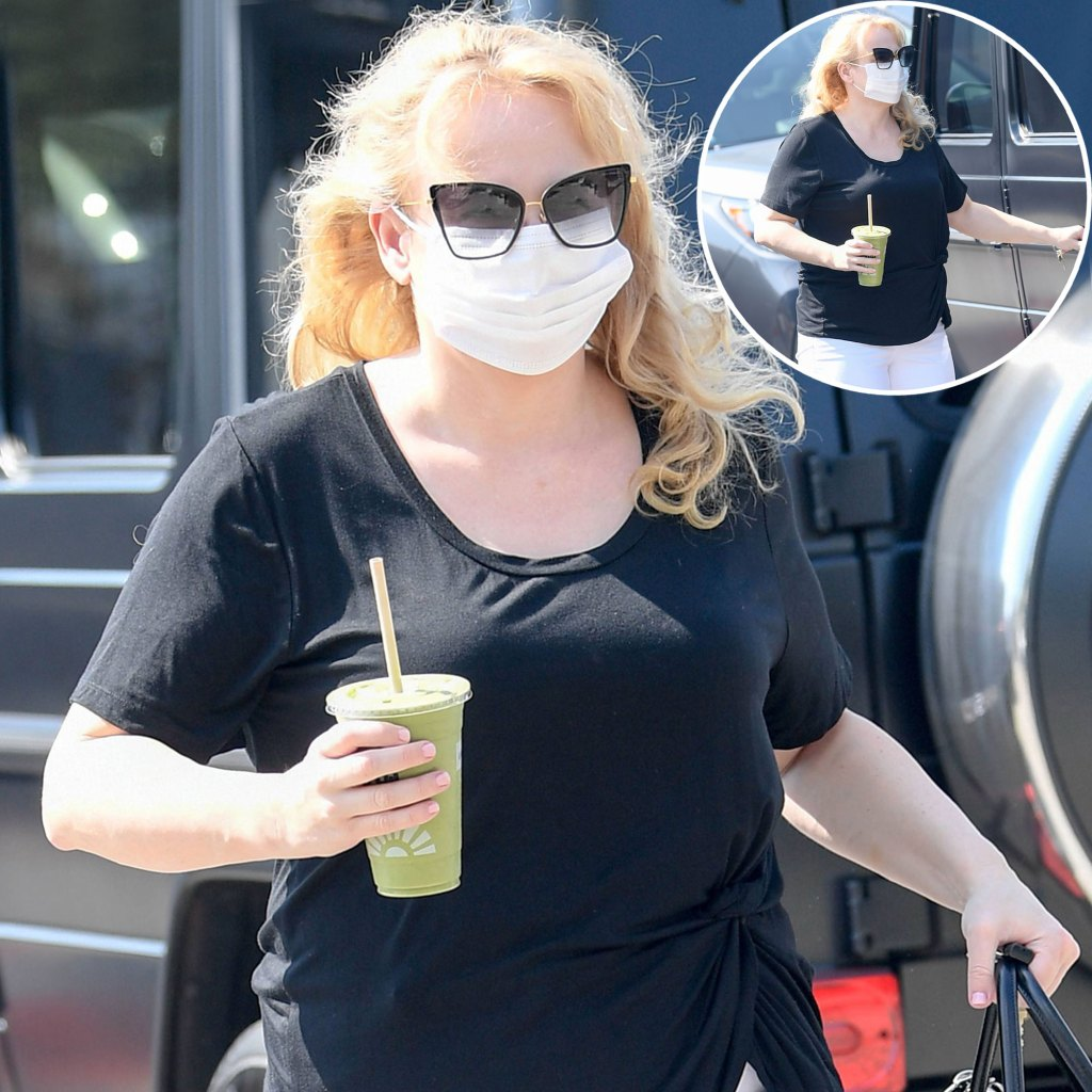 Rebel Wilson Shows Off Weight Loss While Grabbing Green Smoothie