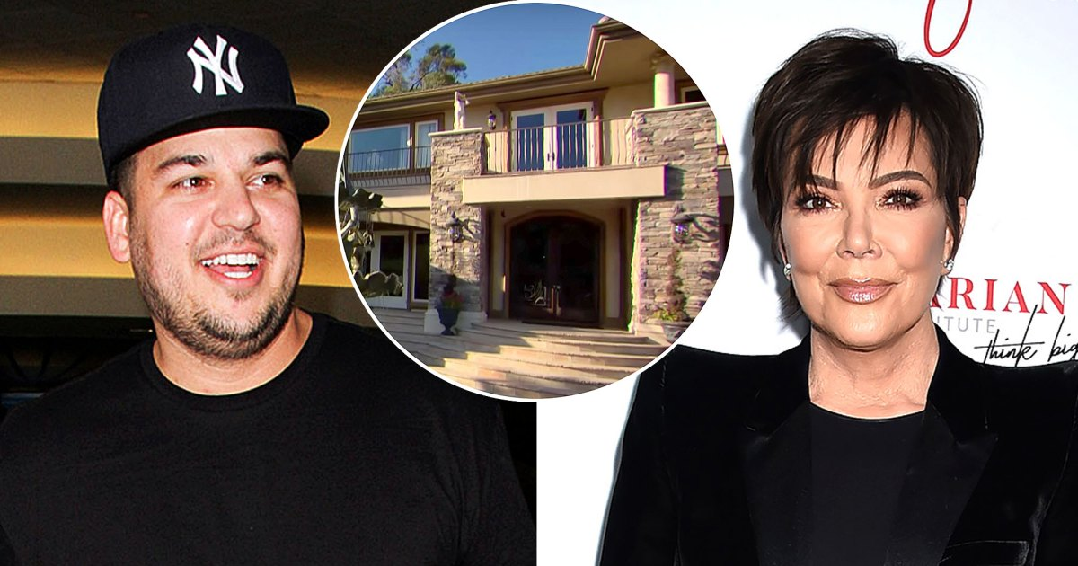 Rob Kardashian Lives in Kris' Old 'KUWTK' Home and It's Exactly the Same!