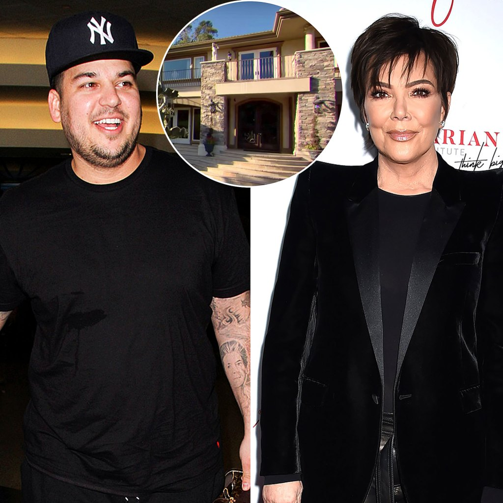 Rob Kardashian Lives Kris Jenner Old KUWTK Home Its Exactly Same