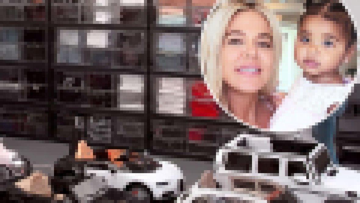 True Thompson Gets Customized Parking Garage Her Cars Khloe Kardashian
