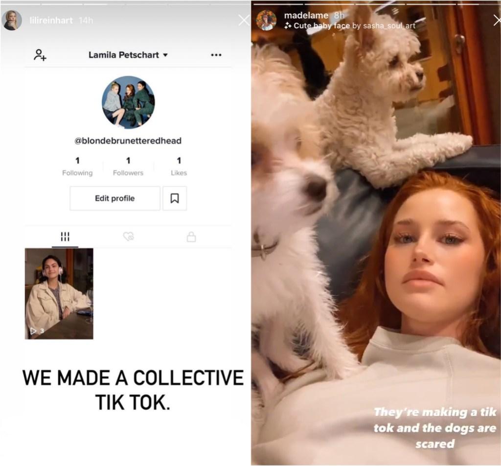 lili-reinhart-camila-mendes-madelaine-petsch-riverdale-tiktok-account