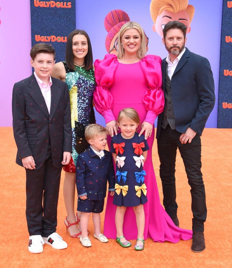 Kelly Clarkson and Brandon Blackstock Kids