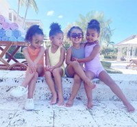 Dream Kardashian Stormi Webster Chicago West True Thompson Turks and Caicos Vacation