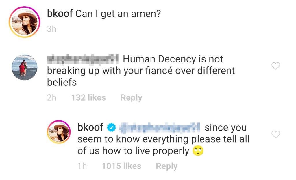 Becca Kufrin Claps Back at Troll Shading Her for Garrett Split
