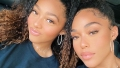 Jordyn Woods' Nearly Identical Little Sister Jodie Joins Her On Set: 'Bring Your Sister to Work Day'