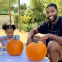 Khloe Kardashian's Daughter True Thompson Mans the Cutest Pumpkin Stand You'll See All Fall