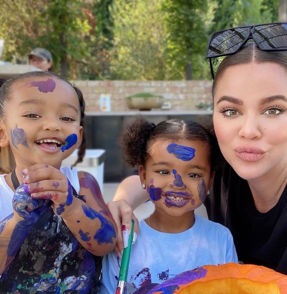 Khloe Kardashian's Daughter True Thompson Mans the Cutest Pumpkin Stand You'll See All Fall