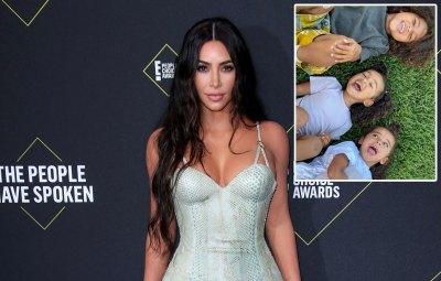 Kim Kardashian Shares a Precious Photo of Saint, Chicago and Dream