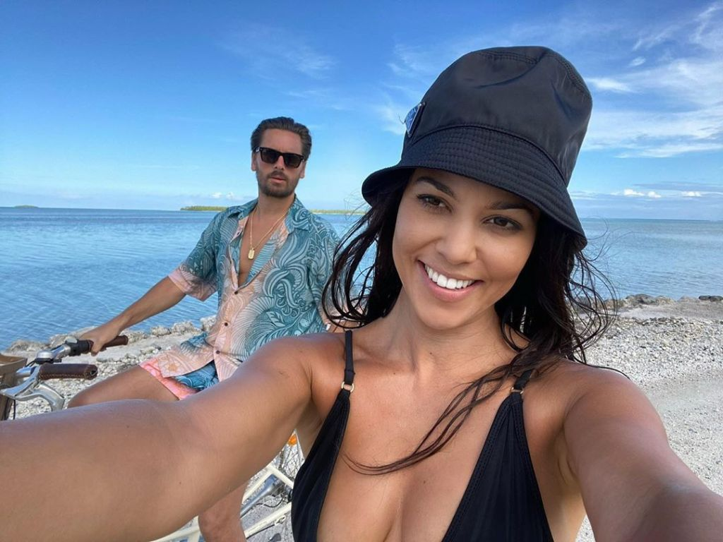 Back Together?! Kourtney Kardashian Shares Cute Vacation Selfies With Scott Disick
