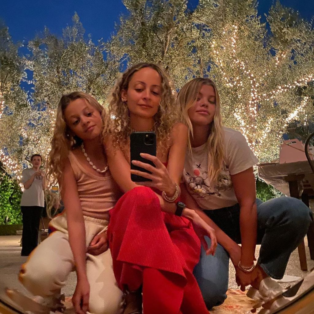 Sofia Richie Poses for a Sweet Selfie With Sister Nicole Richie and Niece Harlow Madden