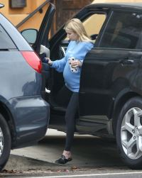 Pregnant Emma Roberts out and about
