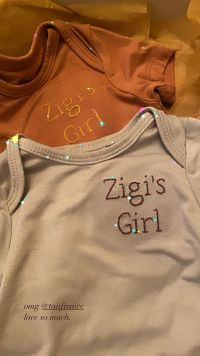 Gigi Hadid and Zayn Malik Daughter Onesies Zigi's Girl Tan france