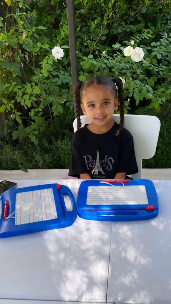 Dream Kardashian Goes to Preschool