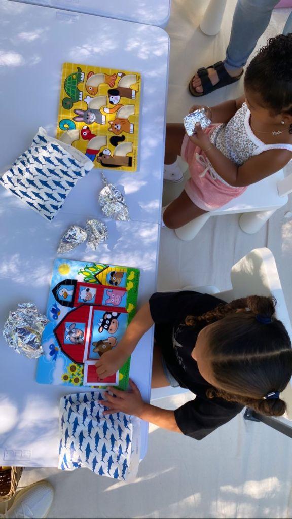Dream Kardashian and True Thompson In Preschool