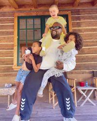 Kardashian Jenner Cousin Photos Kanye West Saint North and Reign Disick