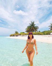 Kim Kardashian Wears String Bikini on 40th Birthday Trip 2