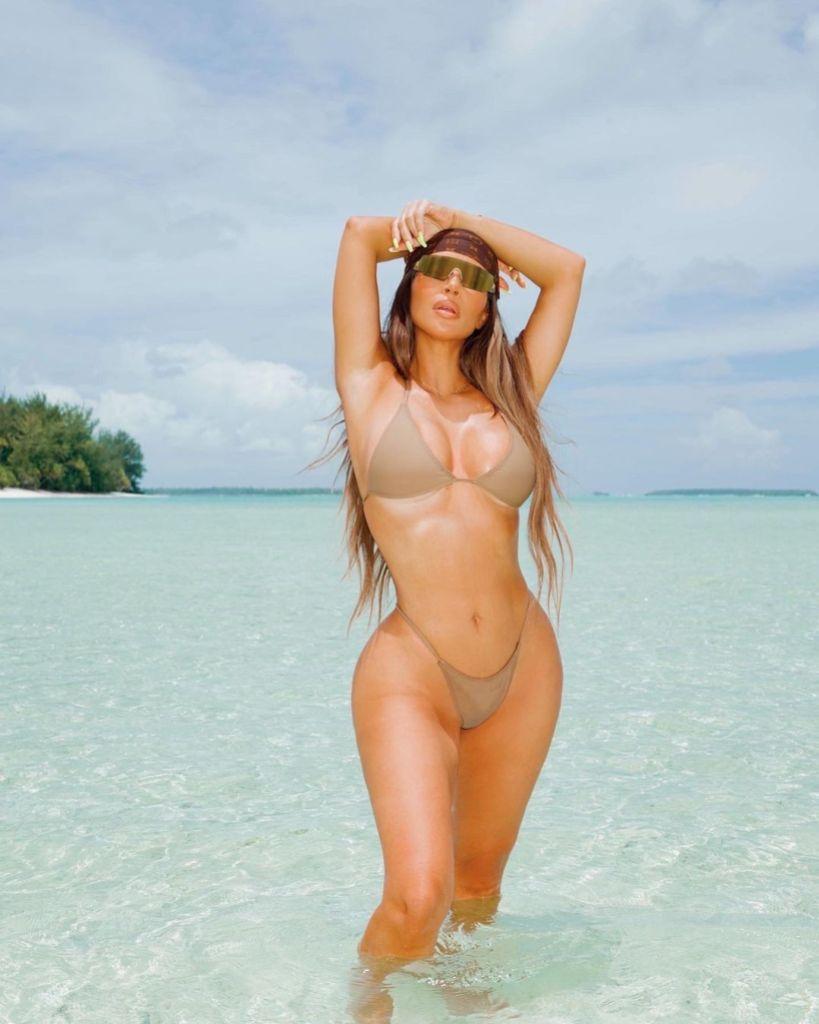 Kim Kardashian Wears String Bikini on 40th Birthday Trip 1