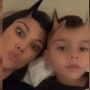 kourtney-kardashian-son-reign-skeleton-selfie