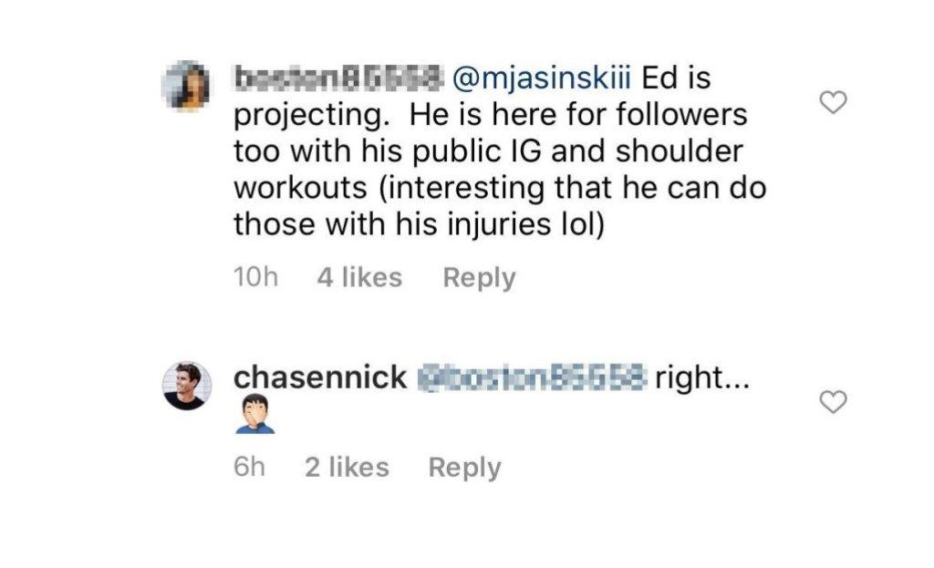 Chasen Nick Instagram Comment