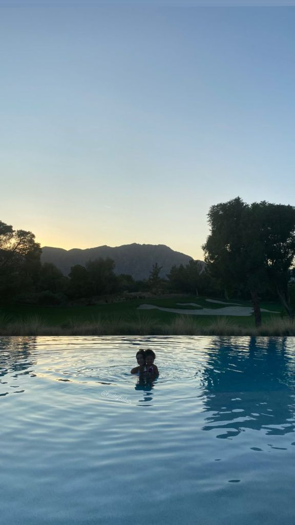 Famous Friends! Kylie Jenner's Daughter Stormi Goes for a Night Swim With Hailey Baldwin
