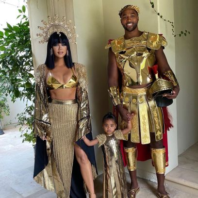 Khloe Kardashian and Tristan Thompson Are Halloween Royalty in Photos With True After Reconciliation