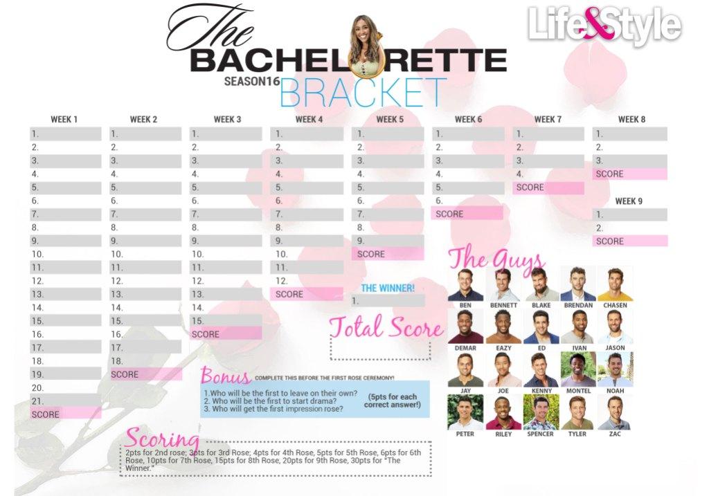 The Bachelorette Bracket Season 16 Tayshia Adams