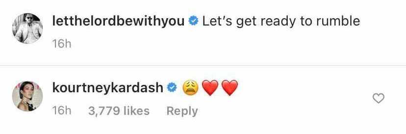 Kourtney Kardashian Reacts to Scott Disick's Photo of Reign