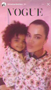 khloe-kardashian-true-thompson-cutest-mommy-moments-vogue-selfie