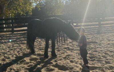 Kourtney Kardashian Shares Photo of Reign and Pony Minnie