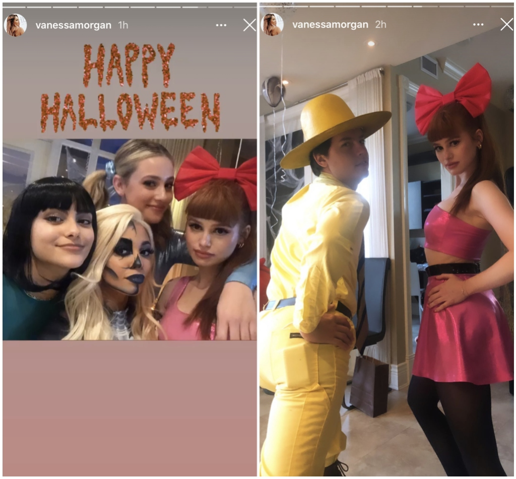 lili-reinhart-cole-sprouse-spend-halloween-together-after-split-ig-vanessa-morgan