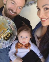 Dad Goals! Nikki Bella's Fiance Artem Chigvintsev's Sweetest Twinning Moments With Son Matteo