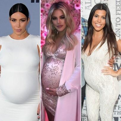 Kardashian-Jenner Pregnancy Photos_ Kim, Kylie, Khloe Kourtney and More