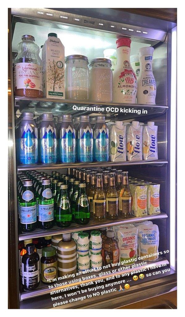 Kourtney Kardashian Shows Off Her Super Organized Refrigerator
