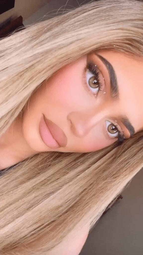 Kylie Jenner Shows Off Stunning Rhinestone Glam