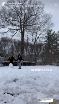 brittany-matthews-patrick-mahomes-cutest-moments-building-a-snowman