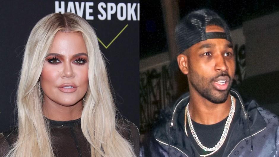 khloe kardashian boyfriend tristan thompson spotted mystery woman