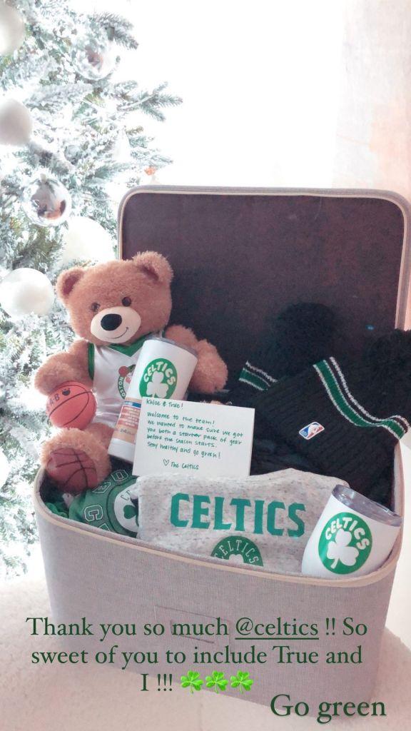 Khloe Kardashian and True Support the Celtics for Tristan