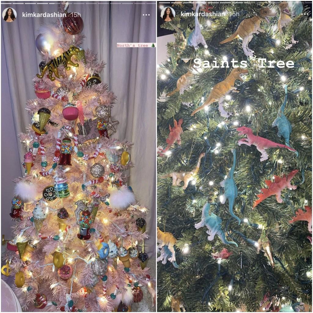 north-west-saint-west-christmas-trees-kim-kardashian-ig