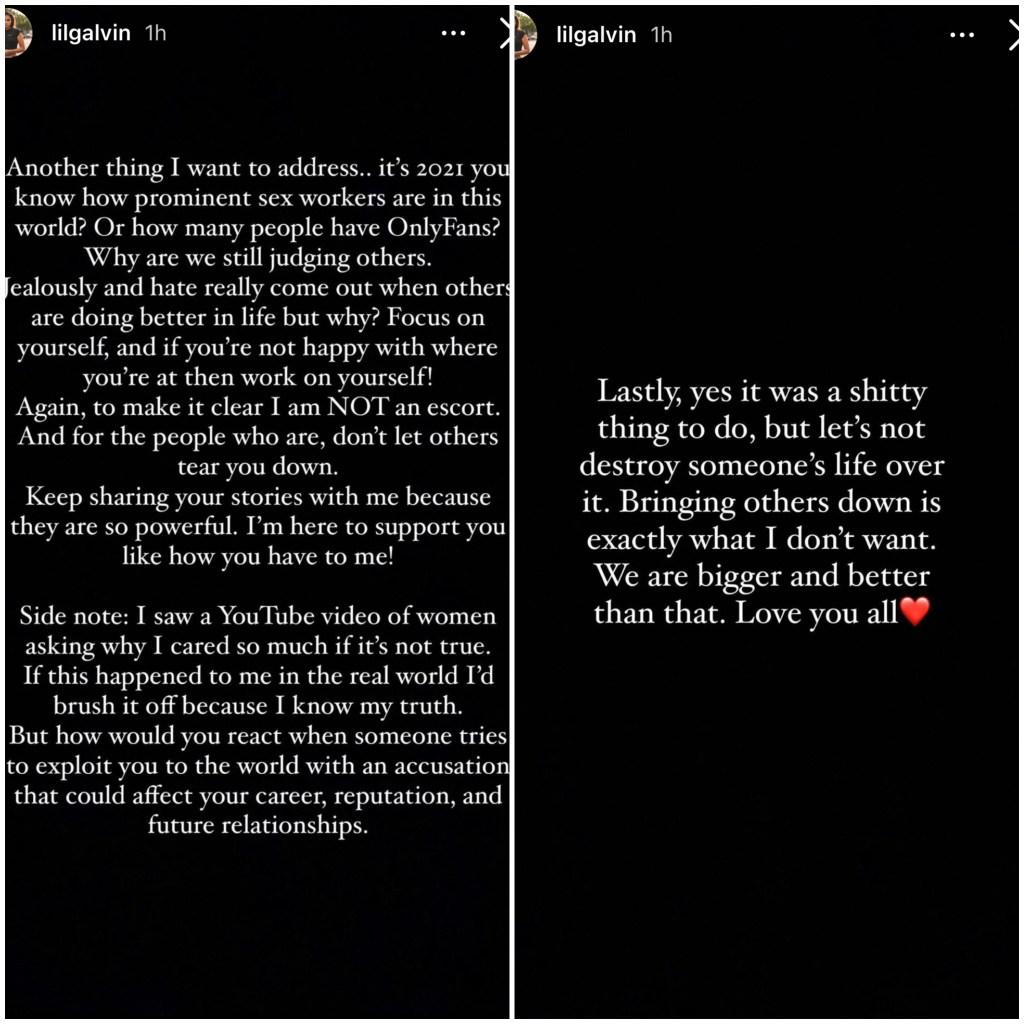 Brittany Galvin Escort Statement