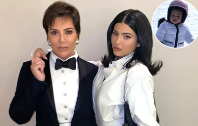 Kylie and Kris Jenner Watch as Corey Gamble and Stormi Hit the Slopes During New Year's Aspen Trip
