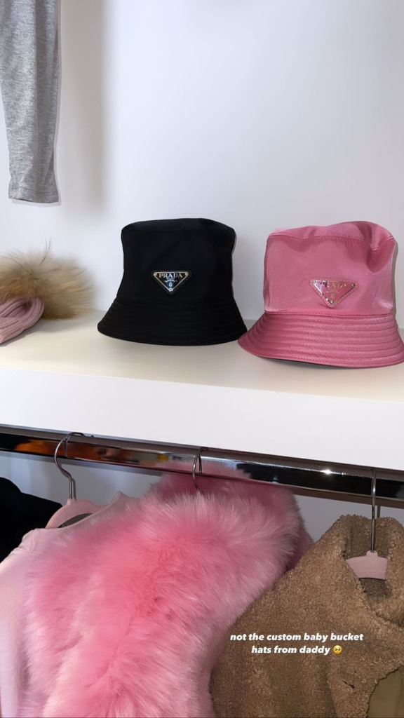Kylie Jenner Gushes Over Stormi Webster's 'Custom Baby Bucket Hats' From 'Daddy' Travis Scott