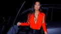 Red Hot! Kim Kardashian Flaunts Her Curves in Leather Pants and a Sexy Top
