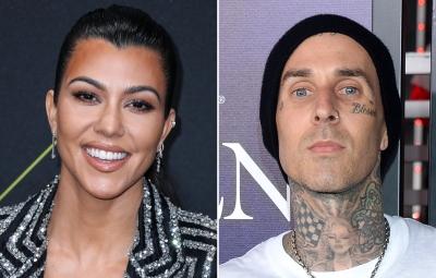 Kourtney Kardashian Visits the Studio With Boyfriend Travis Barker