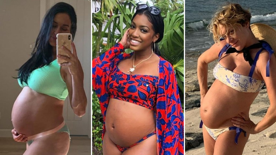 Pregnant Celebrities in Bikinis_ Stars Show Off Baby Bumps