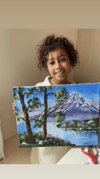 Kim Kardashian Slams Haters Questioning Norths Painting Skills