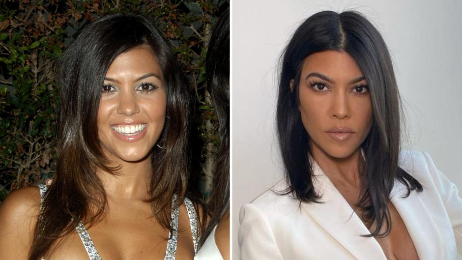Kourtney Kardashian Transformation Photos Then and Now