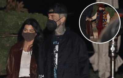 Family Affair! Kourtney Kardashian Brings Son Reign Disick on Date Night With Travis Barker