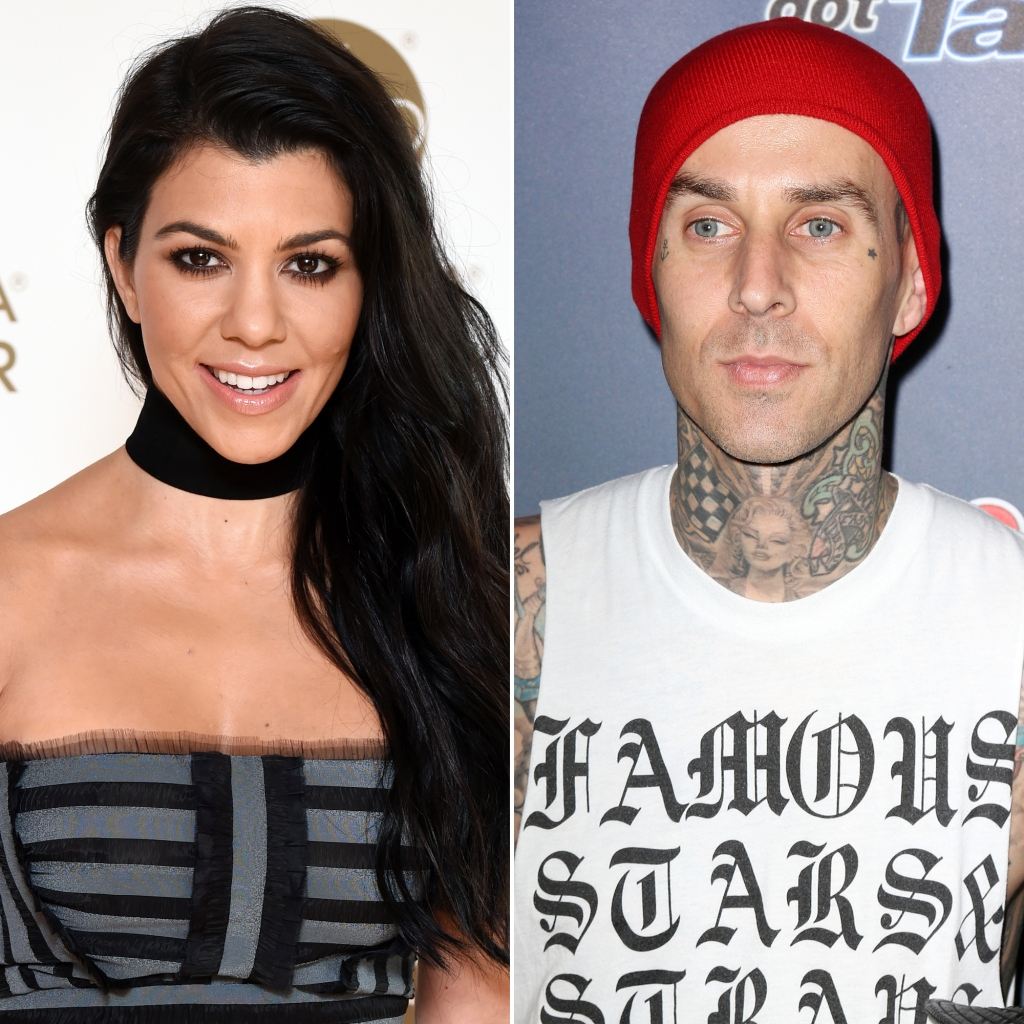 Kourtney Kardashian and Boyfriend Travis Barker Cozy Up to Each Other After Lunch Date in L.A.